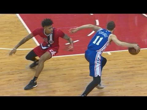 Nik Stauskas SICK Crossover! Henderson Dunked on Twice! 76ers vs Wizards