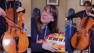 Doctor Who Theme on cello and cat keyboard - The Doubleclicks