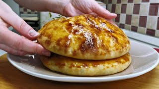 Готовлю ЛЕПЕШКИ исключительно так ХАЧАПУРИ с сыром и зеленью рецепт без вымешивания теста руками