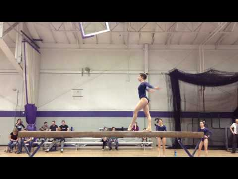 Tatiana Balance Beam 9.85 third place school records 2016