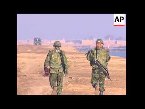 Japanese troops continue groundwork for humanitarian mission