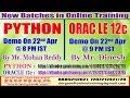 New Batches in Online Training @ DURGASOFT