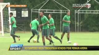 Pelatih Arema Ingin Tingkatkan Kondisi Fisik Pemain