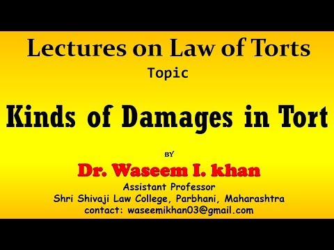 Kinds Of Damages In Tort | Types Of Damages In Tort.