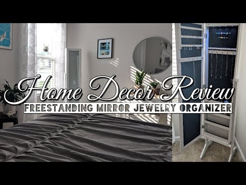 Home Decor Review & Demo-Freestanding Mirror Jewelry Armoire Organizer!