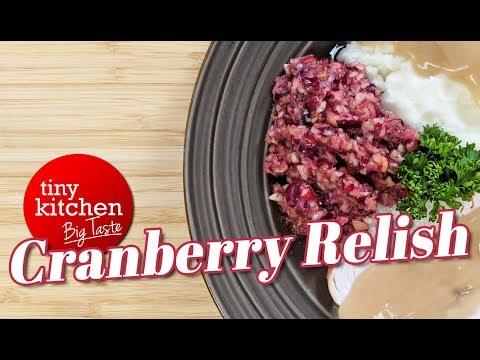 Cranberry Relish // Tiny Kitchen Big Taste