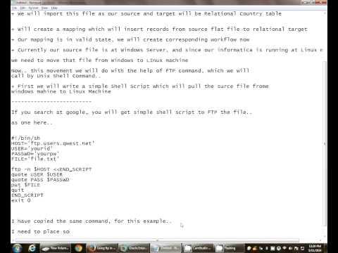 Informatica -- FTP File using Command Task