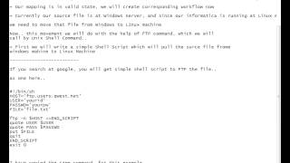 Informatica -- FTP File using Command Task