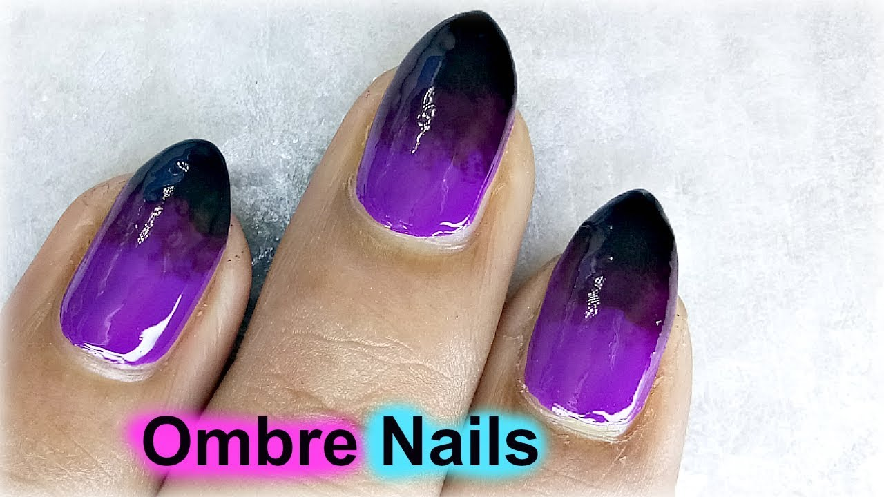 Ombre Nails Perfect Ombre Nail Art Designs Without Sponge Youtube