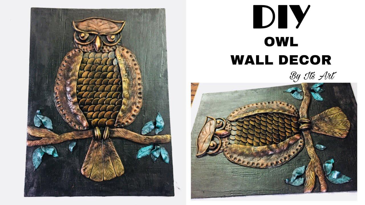 Coin Owl Room Decor Owl Home Decor Mural Art Its Art Youtube