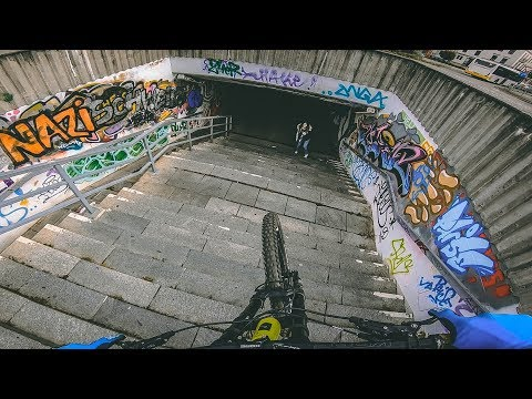 DOWNHILL MTB STREET TOUR IN Zwickau, GERMANY - Rose Bikes Soulfire 3 - Lukas Knopf
