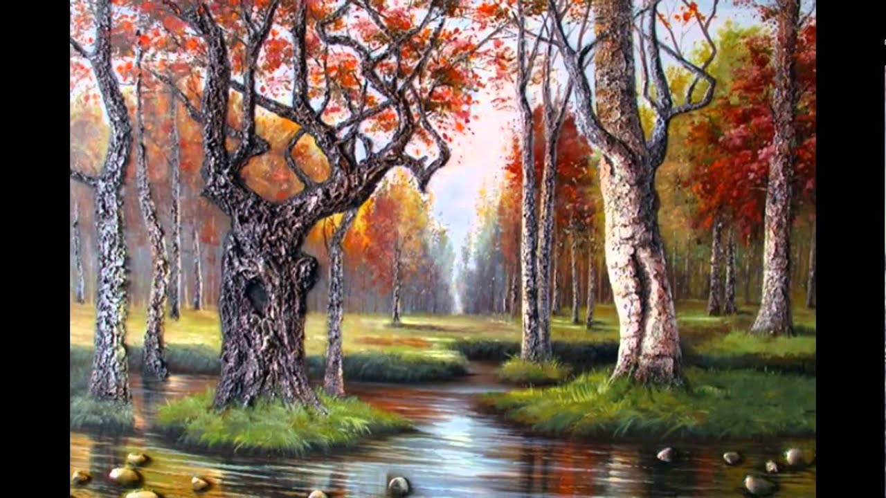 scenery painting oil natural paintings landscape paintingvalley york