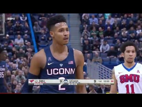 UCONN vs #21 SMU Basketball 2016 (Full Game)