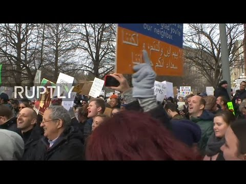 LIVE: Protest against Trump's 'Muslim Ban' takes place in Washington DC