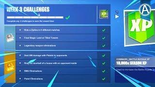 Fortnite WEEK 3 CHALLENGES GUIDE! (Fortnite Battle Royale)