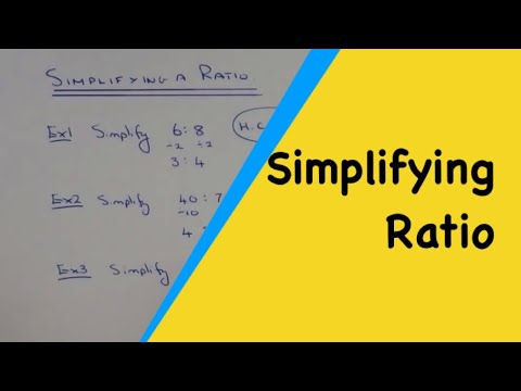 simplest form 16/40  How to simplify a ratio to its simplest form.