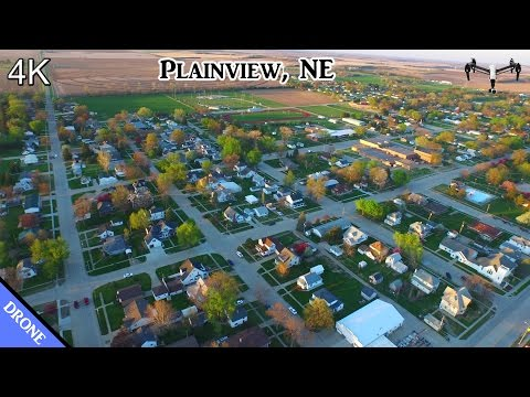 Plainview, NE Flyover Part 1 - DJI Inspire (4K)