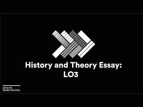 History and Theory Essay - Assessment Criterion 3 (research)