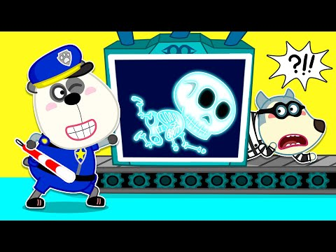Wolf Family | Wolfoo Pretend Play Cops And Robbers - Jailbreak With X-Ray