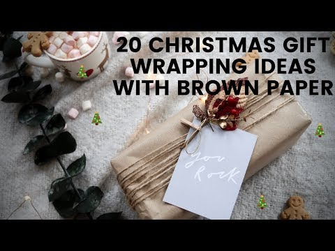 20 Christmas Gift Wrapping Ideas With Brown Paper