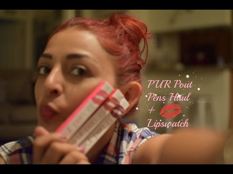 Pur Pout Pens | Haul+Swatches and thoughts