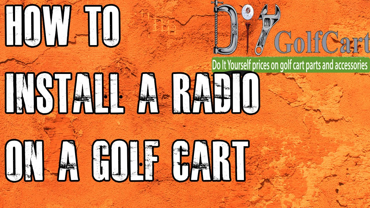 2003 Ezgo Gas Wiring Diagram Golf Cart Mp3 Stereo How To Install Radio Youtube