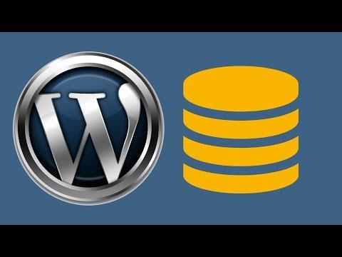 Как подключить базу данных mysql к wordpress