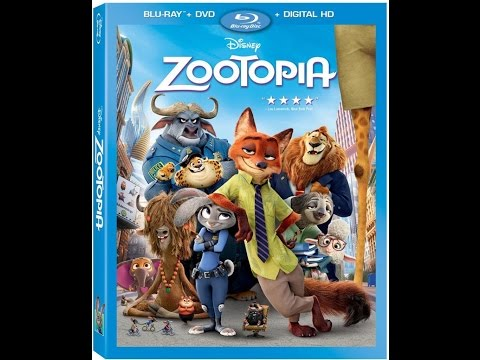 Opening to Zootopia 2016 Blu-ray