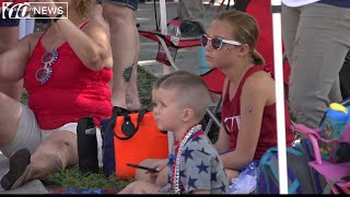 Deployed dad surprises his family at the Brandon 4th of July parade