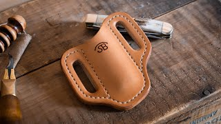Buy the pdf digital pattern for this knife sheath here: https://www.stockandbarrelco.com/collections/templates/products/no-85-leather-trapper-knife-sheath-te...