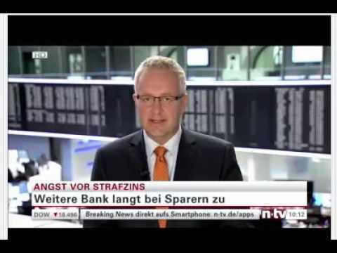 Die ersten Banken erheben Minus-Zinsen für Spargeld!