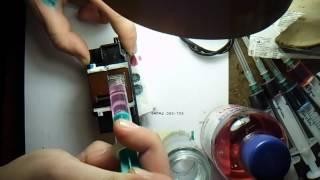 Чистка/Отмывка печающей головки принтера canon ip4940 QY6-0080