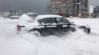 Audi A8 4.2 Tdi snow drift! Quattro drive drift in deep snow