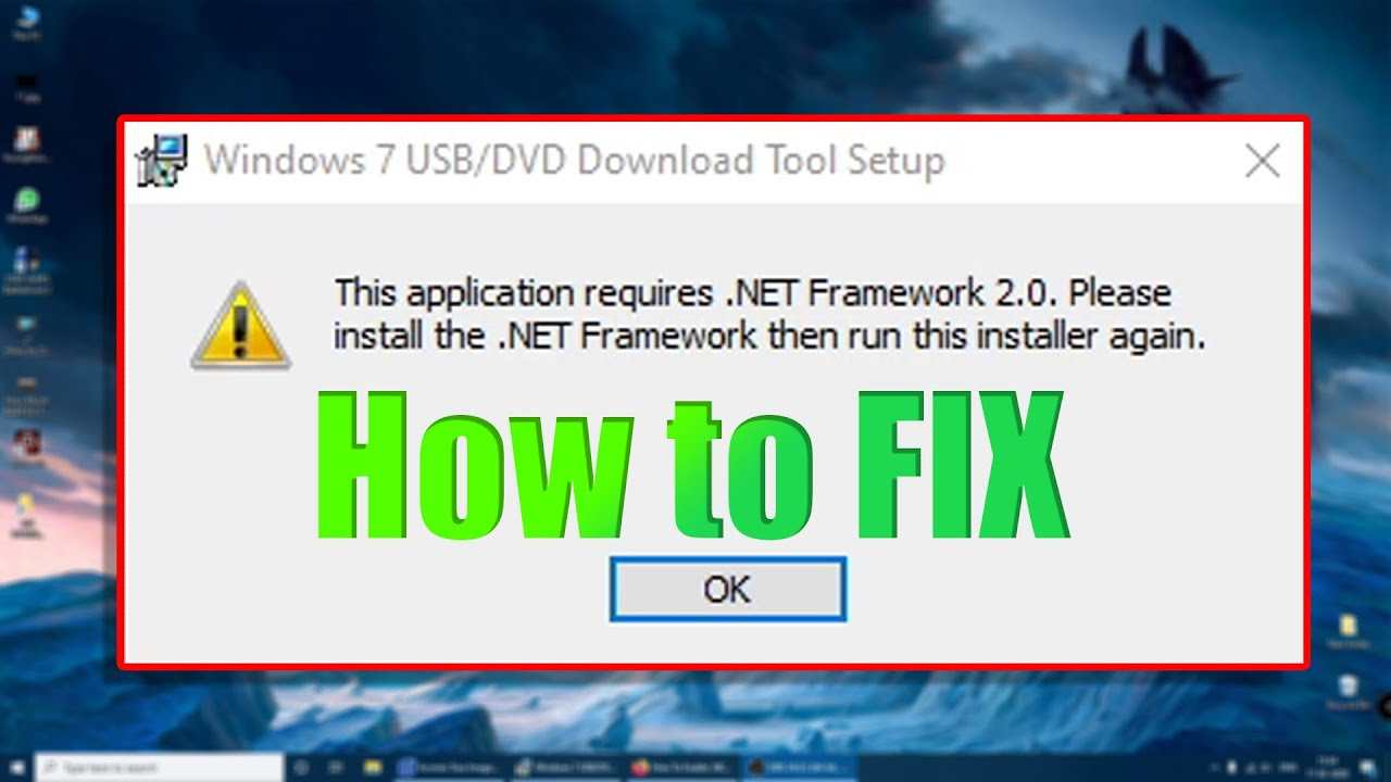 This application requires NET Framework 220 20 Please install the NET ...