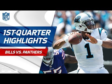 Cam Newton Carries Carolina in the First Quarter vs. Buffalo | NFL Wk 2 Highlights