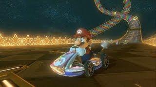 Repeat youtube video Mario Kart 8: Online Mode - Rainbow Road 64 (Mario)