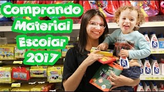 COMPRANDO MEU MATERIAL ESCOLAR 2017 - DANY E CADU