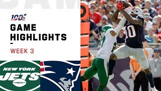 Jets vs. Patriots Week 3 Highlights | NFL 2019
