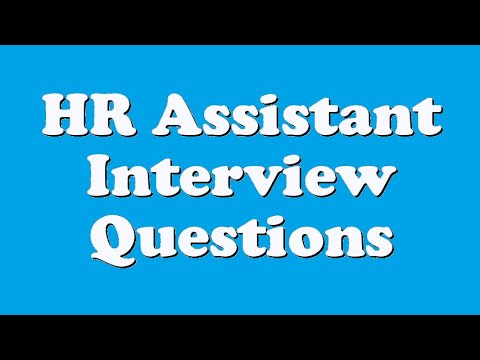 HR Assistant Interview Questions - YouTube