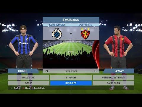 Club Brugge KV vs Sport Recife, Jan Breydel Stadion, PES 2016, PRO EVOLUTION SOCCER 2016