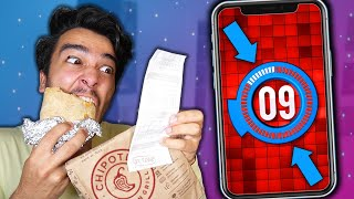 I Only Have 1 MINUTE To Eat EVERY MEAL for 24 HOURS! (IMPOSSIBLE FOOD CHALLENGE)