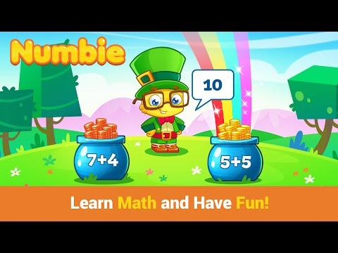 "Numbie First Grade Math ""Educational Education Games"" Android Apps Game Video"