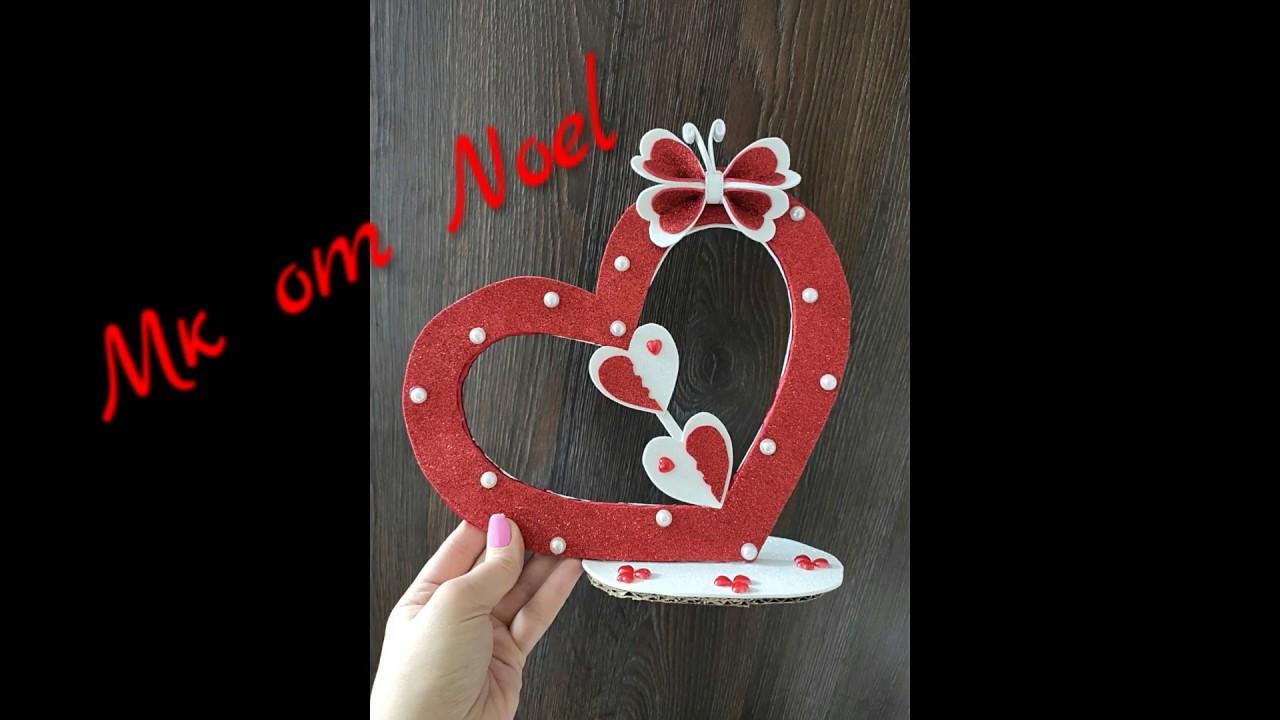 Сердечко из фоамирана на  день Святого Валентина / St. valentine's day/ Мк / Валентинка / Valentine