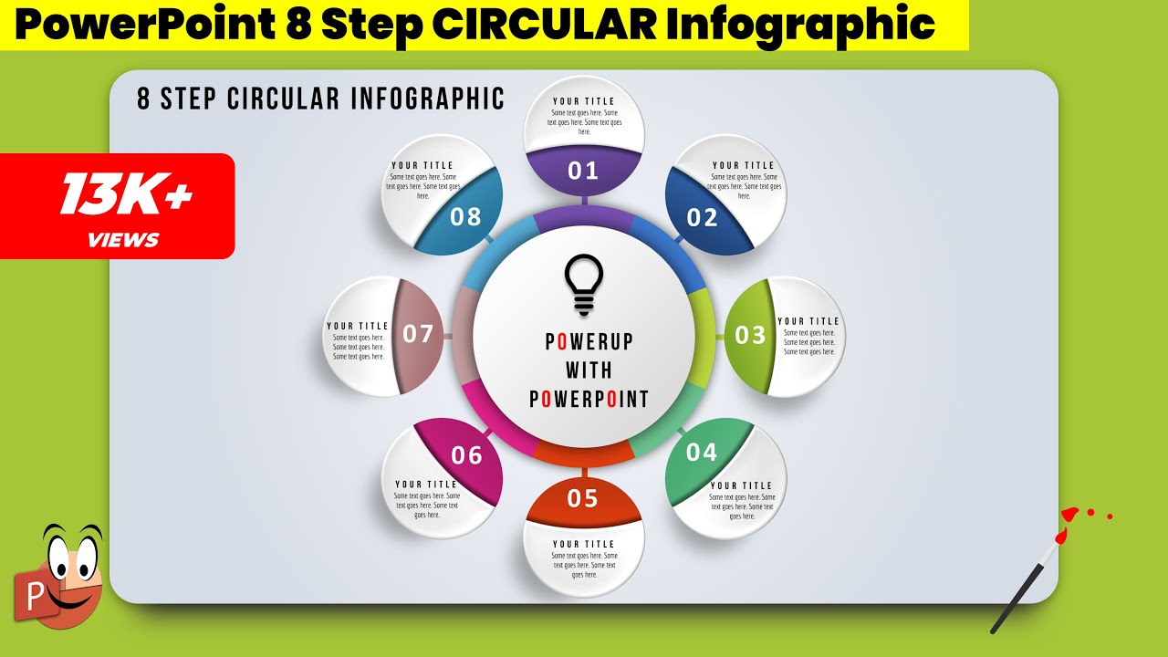 13 Create 8 Step Circular Infographic Powerpoint Presentation Graphic Design Free Template Youtube