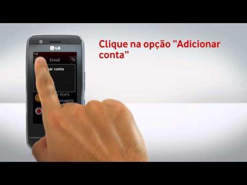 LG GT505 - Configuração de e-mail