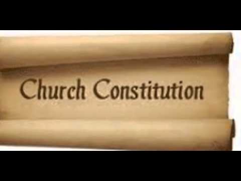 Church Constitution YouTube – Church Bylaws Template