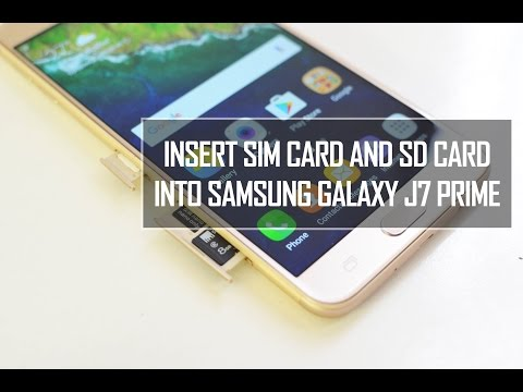 How to Insert SIM and Micro SD Card In Samsung Galaxy J7 Prime | Techniqued