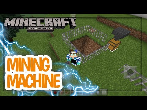 MCPE: How To Make A Self Mining Machine  Command Block Creation