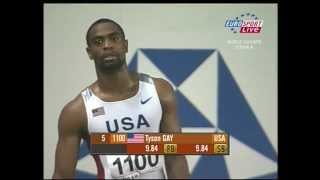 20070826_100 Metres_Final(Финал Чемпионата мира по легкой атлетике в Осаке 2007 год, 100 метров 1 Tyson Gay USA 9,85 2 Derrick Atkins BAH 9,91 3 Asafa Powell JAM..., 2012-04-05T08:14:39.000Z)