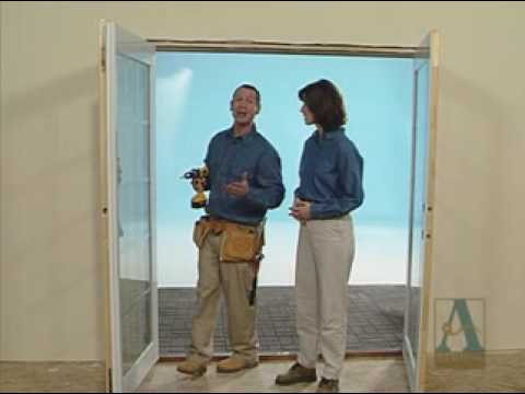 How To Shim A French Door Youtube